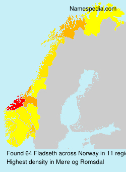 Surname Fladseth in Norway