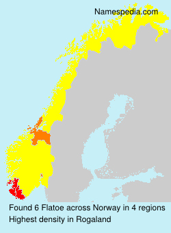 Familiennamen Flatoe - Norway