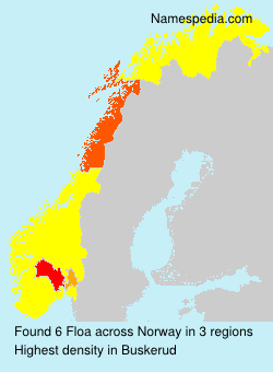 Surname Floa in Norway