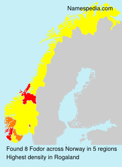 Surname Fodor in Norway