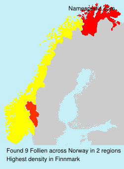Surname Follien in Norway