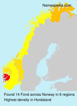 Familiennamen Fond - Norway