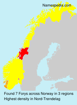 Surname Forys in Norway