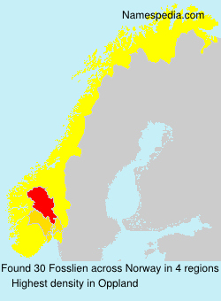 Surname Fosslien in Norway