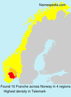 Surname Franche in Norway