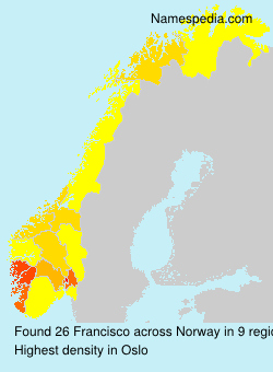 Surname Francisco in Norway