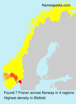 Surname Franer in Norway