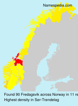 Surname Fredagsvik in Norway