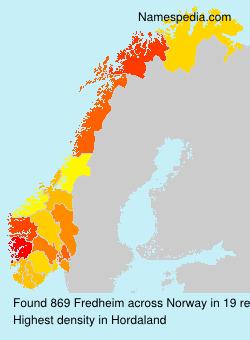 Surname Fredheim in Norway