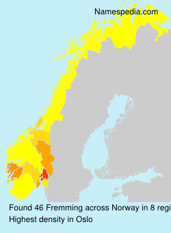 Surname Fremming in Norway