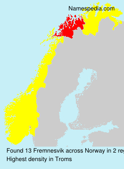Surname Fremnesvik in Norway