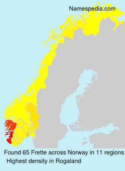 Surname Frette in Norway
