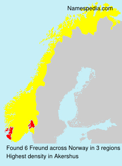 Surname Freund in Norway