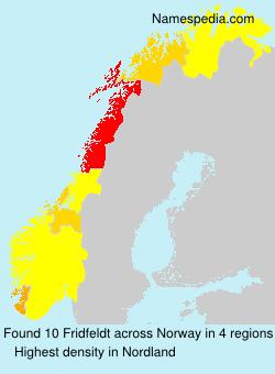 Surname Fridfeldt in Norway