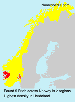 Surname Fridh in Norway
