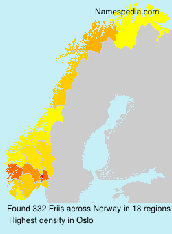 Surname Friis in Norway
