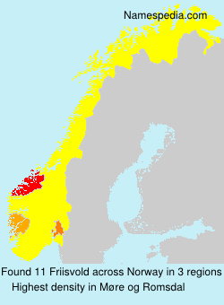 Surname Friisvold in Norway