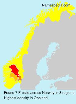 Surname Froslie in Norway