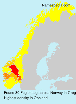 Surname Fuglehaug in Norway