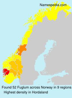 Surname Fuglum in Norway