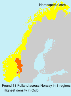 Surname Fulland in Norway
