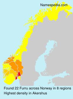 Surname Furru in Norway