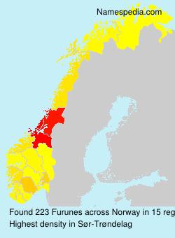 Familiennamen Furunes - Norway
