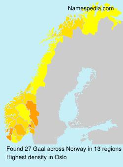Familiennamen Gaal - Norway