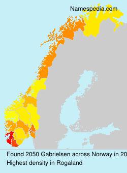 Surname Gabrielsen in Norway
