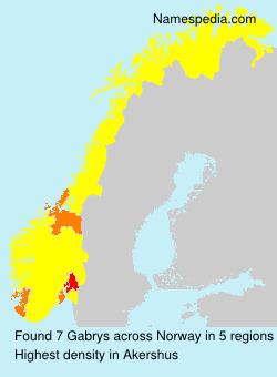 Surname Gabrys in Norway