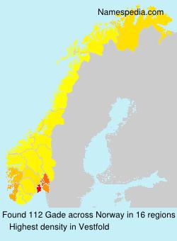 Surname Gade in Norway