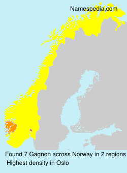 Surname Gagnon in Norway