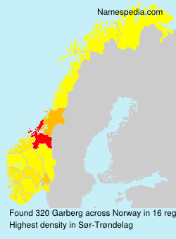 Surname Garberg in Norway