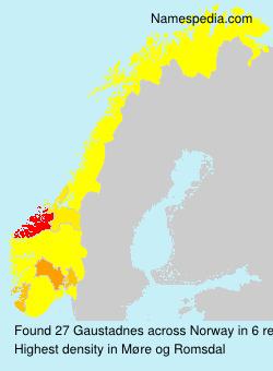Surname Gaustadnes in Norway