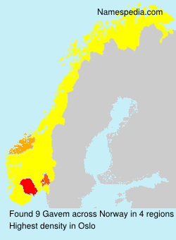 Surname Gavem in Norway
