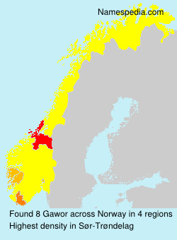Surname Gawor in Norway