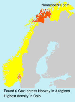 Surname Gazi in Norway