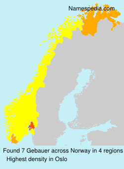 Surname Gebauer in Norway