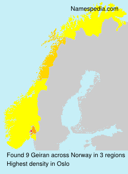 Surname Geiran in Norway