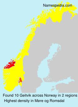 Surname Geitvik in Norway
