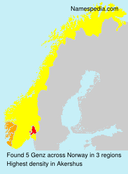 Surname Genz in Norway