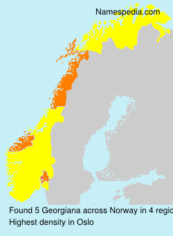 Surname Georgiana in Norway