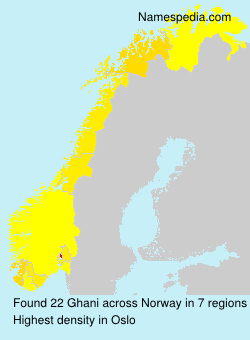 Surname Ghani in Norway
