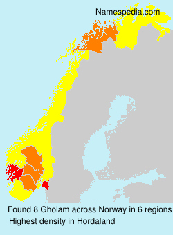 Surname Gholam in Norway