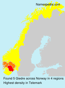 Surname Giedre in Norway