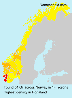 Surname Gil in Norway