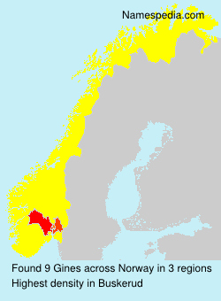 Surname Gines in Norway