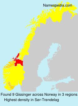 Surname Gissinger in Norway