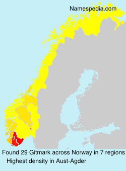 Surname Gitmark in Norway