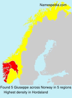 Surname Giuseppe in Norway